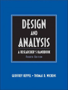 Design and Analysis av Geoffrey Keppel og Thomas D. Wickens (Innbundet)
