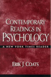 Contemporary Readings in Psychology av Erik J. Coats (Heftet)
