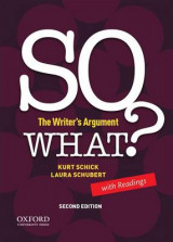 Omslag - So What? the Writer's Argument, with Readings