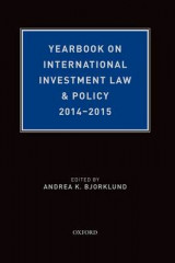 Omslag - Yearbook on International Investment Law & Policy 2014-2015
