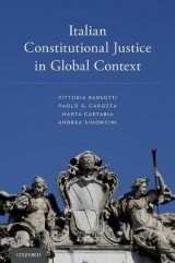 Omslag - Italian Constitutional Justice in Global Context