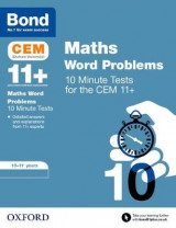 Omslag - BOND 11+ CEM: CEM Maths Word Problems 10 Minute Tests: