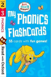 Read with Oxford: Stages 2-3: Biff, Chip and Kipper: My Phonics Flashcards av Roderick Hunt, Laura Sharp og Annemarie Young (Undervisningskort)