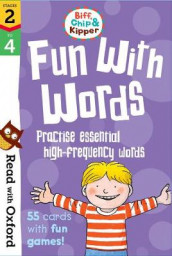 Read with Oxford: Stages 2-4: Biff, Chip and Kipper: Fun With Words Flashcards av Roderick Hunt, Kate Ruttle og Annemarie Young (Undervisningskort)