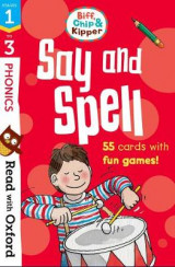 Omslag - Read with Oxford: Stages 1-3: Biff, Chip and Kipper: Say and Spell Flashcards