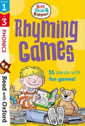 Read with Oxford: Stages 1-3: Biff, Chip and Kipper: Rhyming Games Flashcards av Roderick Hunt, Kate Ruttle og Annemarie Young (Undervisningskort)
