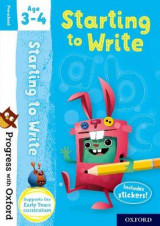 Omslag - Progress with Oxford: Starting to Write Age 3-4