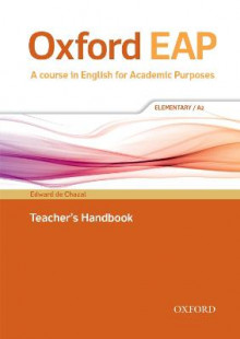Oxford EAP: Elementary/A2: Teacher's Book, DVD and Audio CD Pack av Edward de Chazal og John Hughes (Blandet mediaprodukt)