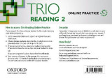 Omslag - Trio Reading: Level 2: Online Practice Student Access Card
