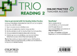 Omslag - Trio Reading: Level 2: Online Practice Teacher Access Card