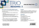 Omslag - Trio Reading: Level 3: Online Practice Student Access Card