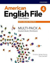 Omslag - American English File: Level 4: Student Book/Workbook Multi-Pack A with Online Practice