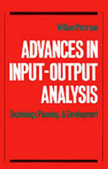 Advances in Input-Output Analysis (Innbundet)