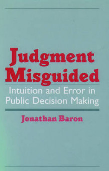 Judgment Misguided av Jonathan Baron (Innbundet)