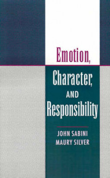 Emotion, Character and Responsibility (Innbundet)