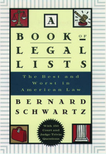 A Book of Legal Lists av Bernard Schwartz (Heftet)