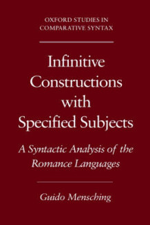 Infinitive Constructions with Specified Subjects av Guido Mensching (Innbundet)