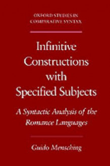 Infinitive Constructions with Specified Subjects av Guido Mensching (Heftet)