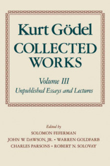 Kurt Godel: Collected Works: Volume 3 av Kurt Godel (Heftet)