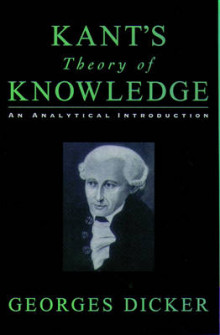 Kant's Theory of Knowledge av Georges Dicker (Heftet)