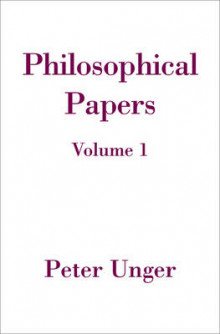 Philosophical Papers: Volume One av Peter Unger (Innbundet)