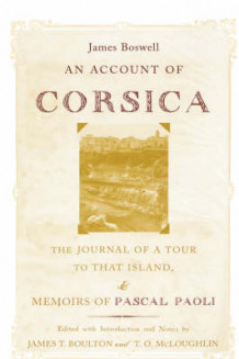 An Account of Corsica, the Journal of a Tour to That Island av James Boswell (Innbundet)