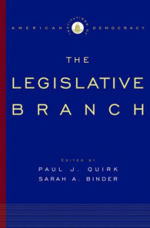 Institutions of American Democracy: The Legislative Branch (Innbundet)