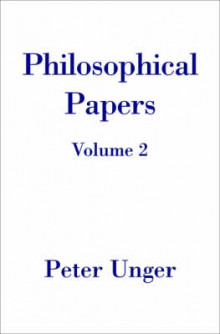 Philosophical Papers: Volume Two av Peter Unger (Innbundet)