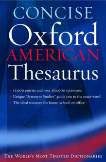 Concise Oxford American Thesaurus (Innbundet)