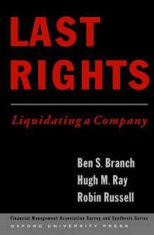 Last Rights av Ben S. Branch, Hugh M. Ray og Robin Russell (Innbundet)