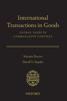 International Transactions in Goods av Martin Davies og David V. Snyder (Innbundet)