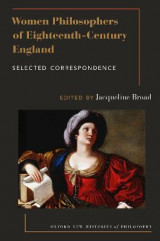 Omslag - Women Philosophers of Eighteenth-Century England