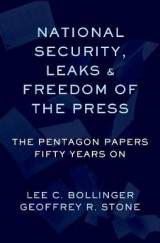 Omslag - National Security, Leaks and Freedom of the Press