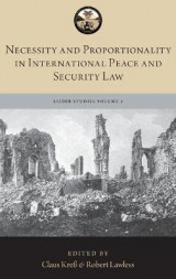 Omslag - Necessity and Proportionality in International Peace and Security Law
