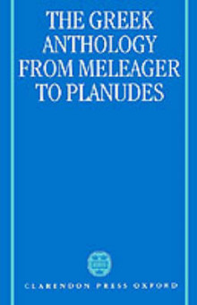 The Greek Anthology from Meleager to Planudes av Alan Cameron (Innbundet)