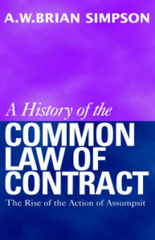 A History of the Common Law of Contract av A. W. B. Simpson (Heftet)