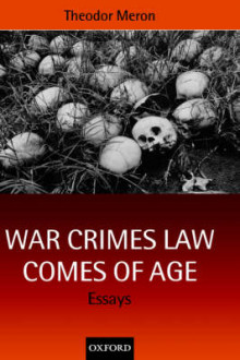 War Crimes Law Comes of Age av Theodor Meron (Innbundet)