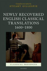 Omslag - Newly Recovered English Classical Translations, 1600-1800