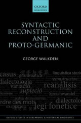Omslag - Syntactic Reconstruction and Proto-Germanic