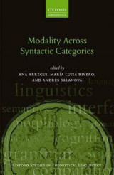 Omslag - Modality Across Syntactic Categories