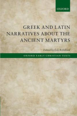 Omslag - Greek and Latin Narratives About the Ancient Martyrs