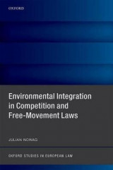 Omslag - Environmental Integration in Competition and Free-Movement Laws