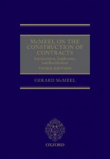 Omslag - McMeel on The Construction of Contracts