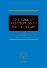 Omslag - The Role of Arbitration in Shipping Law