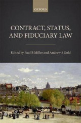 Omslag - Contract, Status, and Fiduciary Law