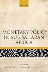 Omslag - Monetary Policy in Sub-Saharan Africa