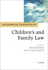Omslag - Philosophical Foundations of Children's and Family Law