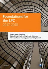 Omslag - Foundations for the LPC 2017-2018