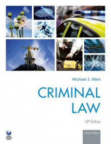 Criminal Law av Michael J. Allen (Heftet)