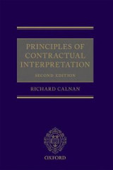 Omslag - Principles of Contractual Interpretation